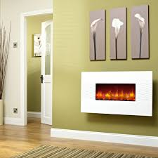 the ivorytm touchstones wall mounted electric fireplace in white