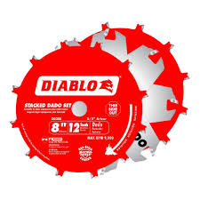 Circular Saw Blade For Laminate Flooring Diablo 8 In X 12 Tooth Stacked Dado Saw Blade Set Dd208h The