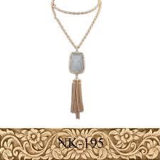 long gold tassel necklace images Men fashion artificial chain design simple long gold tassel jpg