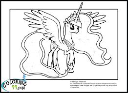 little pony princess luna coloring pages
