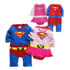 new born baby clothes long sleeve super man super girls style baby