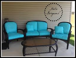 How To Spray Paint Patio Furniture Paint Your Patio Seat Cushions And Transform Your Patio For Less