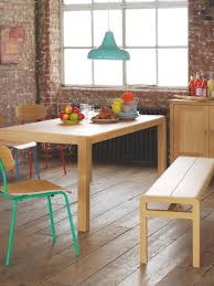 6 seater oak dining table habitat radius 6 seat solid oak dining table two 3 seater solid