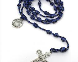 rosary twine knotted cord rosary etsy