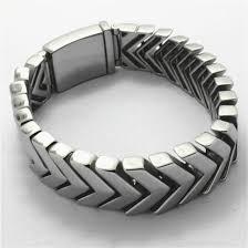 mens silver solid bracelet images Hot amazing arrow design shiny silver tone mens bracelet polishing jpg