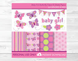 cute pink butterfly clipart butterfly digital paper butterfly