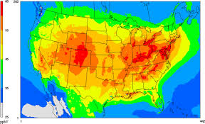 Light Pollution Map Usa by Ozone Effects On Plants Usda Ars