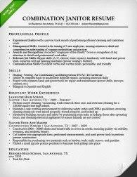 Sample Resume For Janitor Combination Resume Samples U0026 Writing Guide Rg
