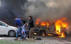 Car Interior Smoke Bomb Car Bomb Blast Leaves 15 Casualties In Idlib Regime Forces Shell
