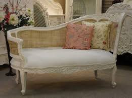 shabby chic white carved wood bedroom chaise lounge chair with