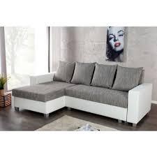 canapé convertible gris et blanc canape d angle droit simili blanc dans canapé achetez au meilleur
