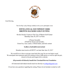 5th annual southwest ohio browns backers golf outing cincigolf com