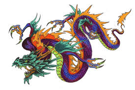 colourful dragon tattoo in 2017 real photo pictures images and