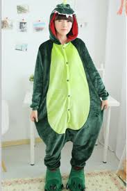 Halloween Jumpsuit Costumes Green Wicked Womens Flannel Halloween Dinosaur Jumpsuit Costume
