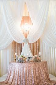 wedding backdrop gold gorgeous pipe and drape backdrop to a half moon sweetheart table
