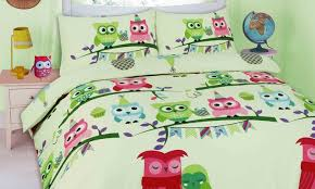 cute owl duvet cover set groupon goods