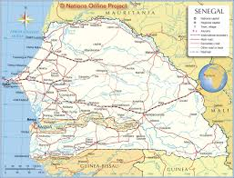 Un Map Political Map Of Senegal Nations Online Project