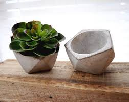 cement planter etsy