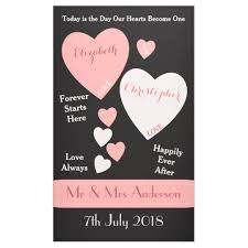 Personalized Photo Backdrop Personalized Wedding Backdrop Pink And Black Banner Zazzle Com