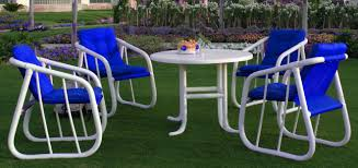 Fabric Outdoor Chairs Furniture Beautiful Plastic Patio Chairs With Blue Fabric