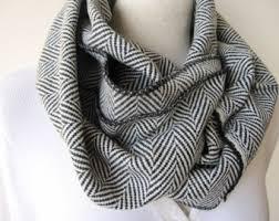 herringbone scarf etsy