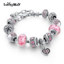 charm bracelet designs images Crystal and flower bead charm bracelet friendship bangle various jpg