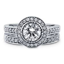 cubic zirconia halo engagement rings sterling silver cubic zirconia cz halo engagement stackable