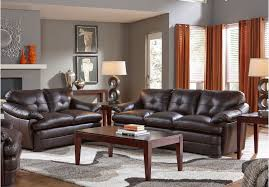 Tufted Living Room Set Sardinia Stone 7pc Living Room Furniture Upholstered With Supple