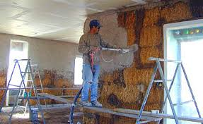 pictures of straw bale house construction part 4 shooting lime