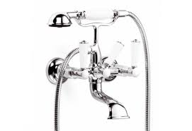 madison flair wall mounted bath mixer with shower set by