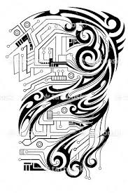 sbink tribal circuits arm tattoosk
