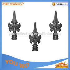 ornamental iron spearhead wrought iron fence finials for guardrail