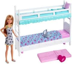 Barbie Sisters Bunk Beds  Stacie Doll DGX Barbie - History of bunk beds