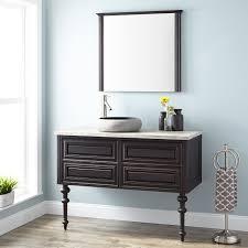 wall mount vessel sink vanity 48 fania wall mount vessel sink vanity dark cherry bathroom