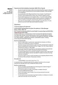 Realtor Job Description For Resume by 100 Original Papers Sample Resume Administrative Assistant Real