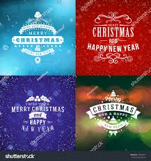 Happy New Year Decoration Vector by Set Merry Christmas Happy New Year Stock Vector 530244307