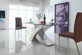 modern glass kitchen table stainless steel dining room tables home design ideas