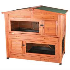trixie 2 story rabbit hutch with attic large 52 25