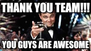 Team Meme - thank you team congratulations meme on memegen