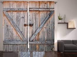 Country Curtains Door Panels by Rustic Decor Collection Wooden Door American Country Style Curtain