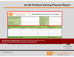 8d report template the 8d problem solving process powerpoint