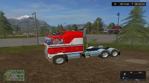 kenworth k100 kenworth k100 cabover ls17 v1 farming simulator 2017 mods ls