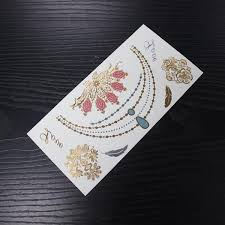 sell temporary jewel tattoo metallic jewel tattoo