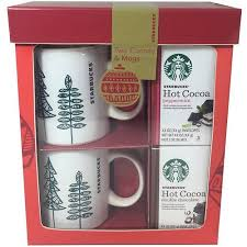hot chocolate gift set starbucks cocoa for two gift set 4 pc walmart