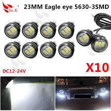 Led Auto Lights Aliexpress Com Buy 10pcs Lot Parking Light 23mm Eagle Eye Led