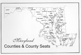 maryland map maryland counties map counties county seats