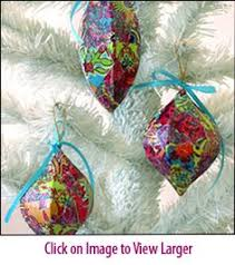 winter wonderland glitter decoupage ornament kit so pretty and so