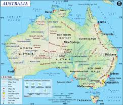 Where Is India On The Map by Australia Map Map Of Australia