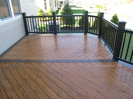 Teak Patio Flooring by Exterior Design Exciting Azek Decking With Wood Deck Railing And