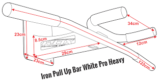 wall mounted chinning bar buy rdx pro heavy duty wall mounted chin up pull bar rdx sports us
